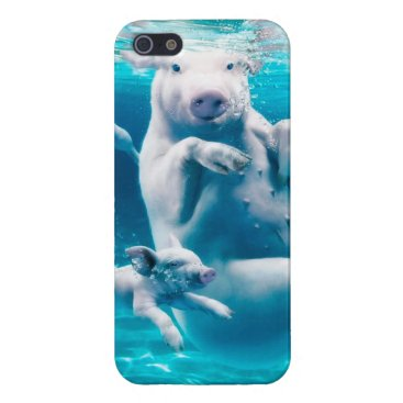 Beach Themed Pig beach - swimming pigs - funny pig cover for iPhone SE/5/5s