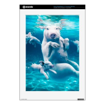 Beach Themed Pig beach - swimming pigs - funny pig decals for the PS3