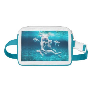 Beach Themed Pig beach - swimming pigs - funny pig fanny pack