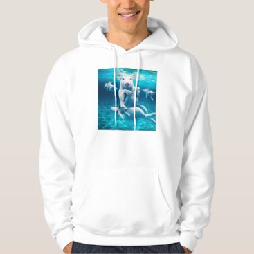 Beach Themed Pig beach - swimming pigs - funny pig hoodie