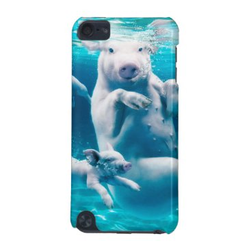 Beach Themed Pig beach - swimming pigs - funny pig iPod touch 5G cover