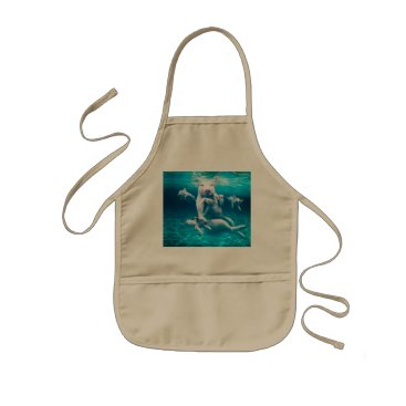 Beach Themed Pig beach - swimming pigs - funny pig kids' apron