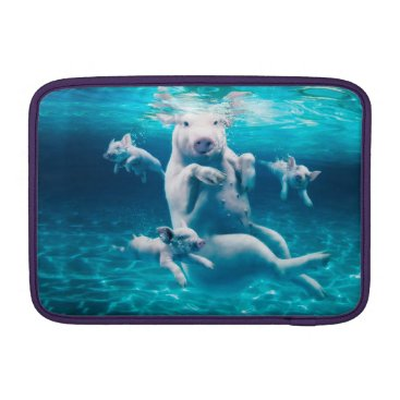 Beach Themed Pig beach - swimming pigs - funny pig MacBook air sleeve