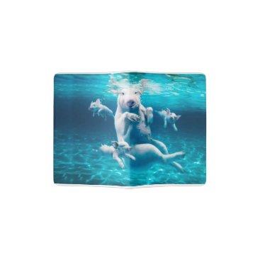 Beach Themed Pig beach - swimming pigs - funny pig passport holder