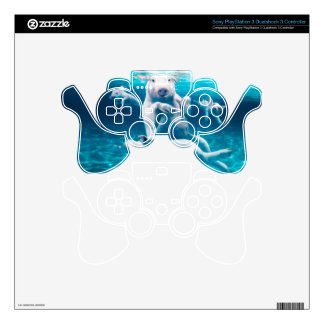 Pig beach - swimming pigs - funny pig PS3 controller decals