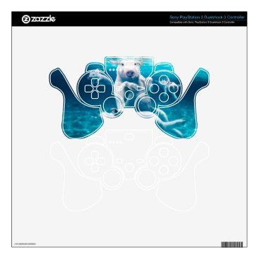 Beach Themed Pig beach - swimming pigs - funny pig PS3 controller decals