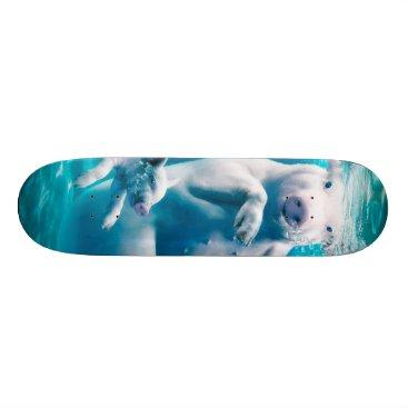 Beach Themed Pig beach - swimming pigs - funny pig skateboard