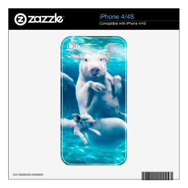 Beach Themed Pig beach - swimming pigs - funny pig skins for iPhone 4S