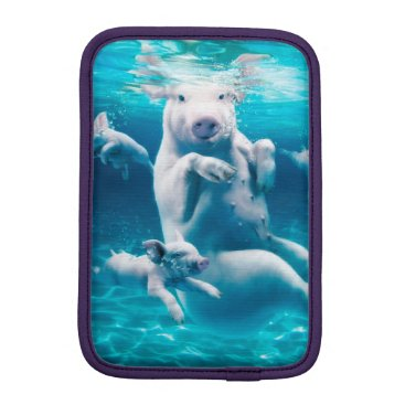 Beach Themed Pig beach - swimming pigs - funny pig sleeve for iPad mini
