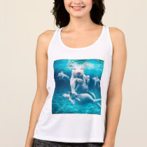 Pig beach - swimming pigs - funny pig tank top