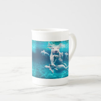 Pig beach - swimming pigs - funny pig tea cup