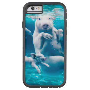 Beach Themed Pig beach - swimming pigs - funny pig tough xtreme iPhone 6 case
