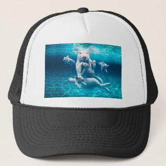Pig beach - swimming pigs - funny pig trucker hat