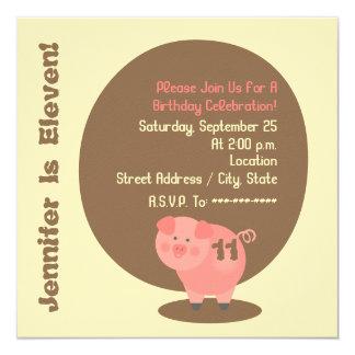Pig Birthday Party Invitation