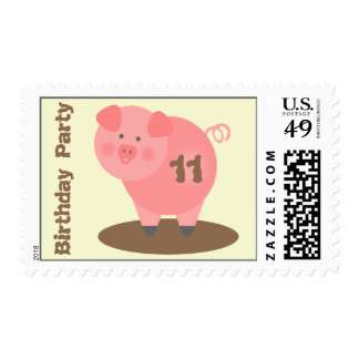 Pig Birthday Party Postage