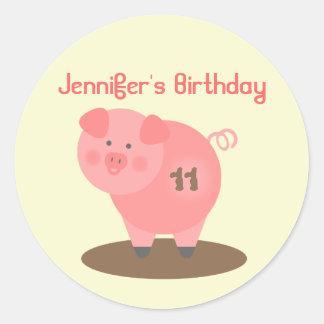 Pig Birthday Party Sticker