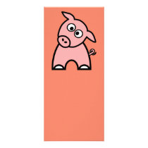 Pig Bookmark Rack Card
