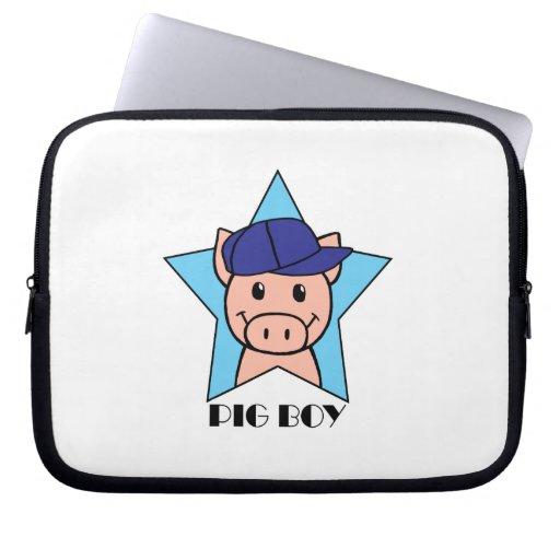 Pig Boy Laptop Sleeves
