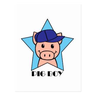 Pig Boy Postcard