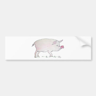 pig bumper sticker