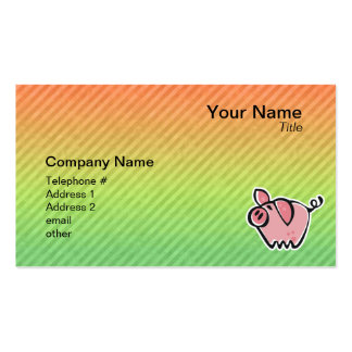 Pig Double-Sided Standard Business Cards (Pack Of 100)