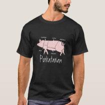 Pig Butcher or Eater Porkatarian Chart Diagram T-Shirt