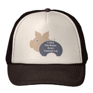 Pig Butt (blue) Trucker Hat