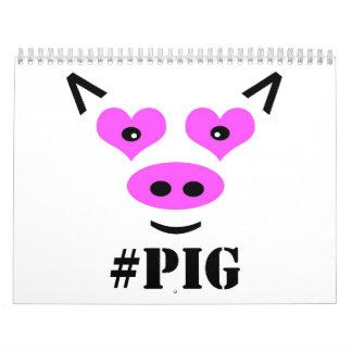#Pig Calendarios