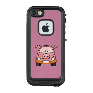 Pig cartoon car LifeProof FRĒ iPhone SE/5/5s case