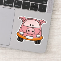 Pig Cartoon Car Sticker