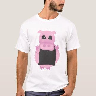 Pig Cartoon with apron T-Shirt