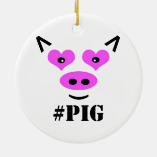 #Pig Ceramic Ornament