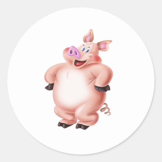 Pig, cerdo, porco, Schwein, cochon Classic Round Sticker