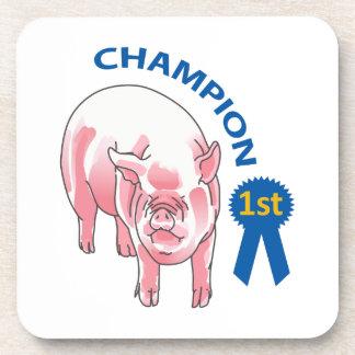 PIG CHAMPION DRINK COASTER