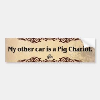 Pig Chariot Bumper Sticker