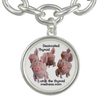 PIG CHARM BRACELET - a fun way to spread the word!