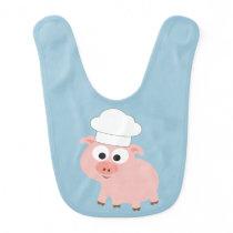 Pig Chef Baby Bib