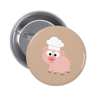 Pig Chef Pinback Button