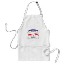 Pig, Chicken and Cow Vintage Barbeque Adult Apron