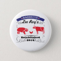 Pig, Chicken and Cow Vintage Barbeque Pinback Button