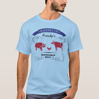 Pig, Chicken and Cow Vintage Barbeque T-Shirt