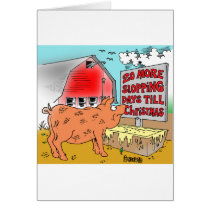 PIG / CHRISTMAS CARTOON GIFTWARE CARD