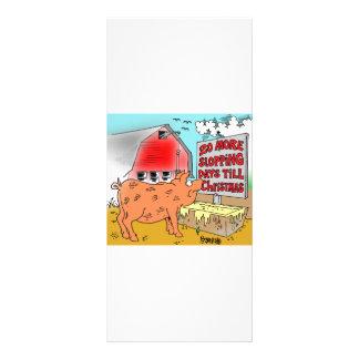PIG / CHRISTMAS CARTOON GIFTWARE CUSTOM RACK CARDS