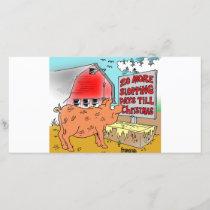 PIG / CHRISTMAS CARTOON GIFTWARE HOLIDAY CARD