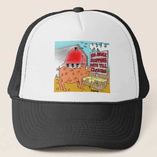 PIG / CHRISTMAS CARTOON GIFTWARE TRUCKER HAT