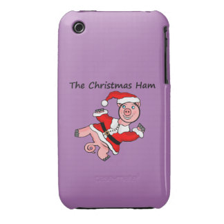 Pig Christmas Ham iPhone 3 Covers
