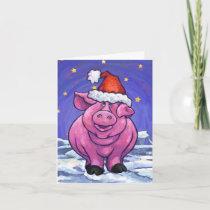 Pig Christmas Holiday Card