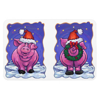 Pig Christmas Magnet
