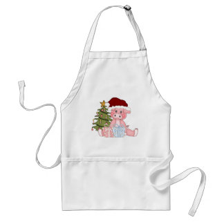 Pig & Christmas Tree Adult Apron