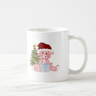 Pig & Christmas Tree Coffee Mug
